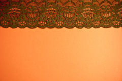 Brown Vintage Lace Trim Stock Photography