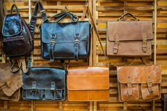 Brown Vintage leather bags Royalty Free Stock Image