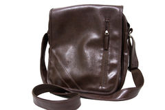Brown Vintage leather briefcase Stock Images