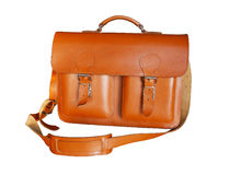 Brown Vintage leather briefcase Royalty Free Stock Photography