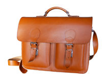 Brown Vintage leather briefcase Royalty Free Stock Photos
