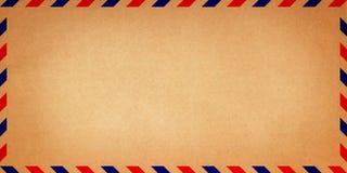 Brown vintage old envelope stock photo