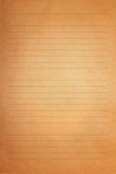 Brown vintage old letter paper Royalty Free Stock Photography