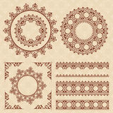 Brown vintage ornaments and frames - vector Royalty Free Stock Images