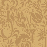 Brown vintage pattern Royalty Free Stock Image