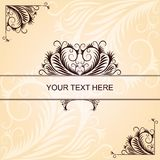 Brown vintage pattern with angular elements Royalty Free Stock Image