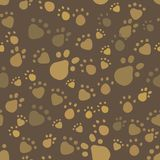 Brown vintage pet legs imprint seamless pattern Royalty Free Stock Photography