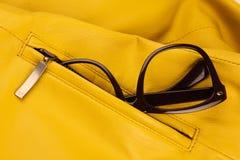Brown vintage plastic eyeglasses Royalty Free Stock Photos
