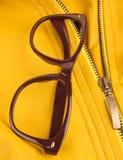 Brown vintage plastic eyeglasses Royalty Free Stock Photography