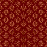 Brown vintage seamless pattern - vector Stock Photography