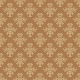 Brown vintage vector seamless pattern Stock Photography