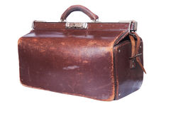 Brown vintage valise Royalty Free Stock Photos