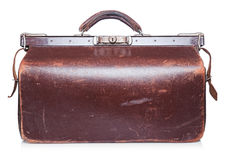 Brown vintage valise Royalty Free Stock Image