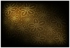 Brown Vintage Wallpaper with Flower Pattern Background. Illustration of Beautiful Brown Vintage Texture Wallpaper Background with Flower Pattern for Add Content Stock Photos