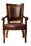 Brown vintage wooden armchair Stock Photography
