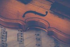 Brown Violin royalty free stock photography