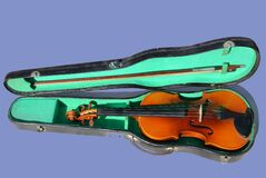 Brown Violin Royalty Free Stock Image