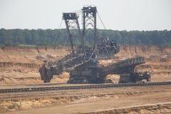 Brown węgiel otwarty - lany górniczy hambach Germany Obrazy Royalty Free
