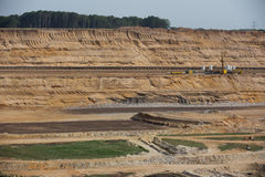 Brown węgiel otwarty - lany górniczy hambach Germany Fotografia Stock