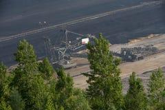 Brown węgiel otwarty - lany górniczy hambach Germany Zdjęcia Royalty Free