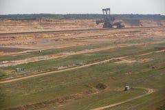 Brown węgiel otwarty - lany górniczy hambach Germany Obrazy Stock