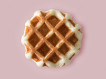 Brown waffle isolated on colour background. Royalty Free Stock Image