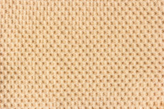 Brown waffle patterned cloth. Stock Images