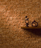Brown wall Royalty Free Stock Images