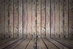 Brown wall and floor wood background.  royalty free stock photo
