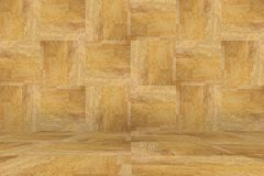 Brown wall and floor wood background.  stock photography