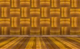 Brown wall and floor wood background.  stock image