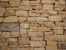 Brown Wall Stone Royalty Free Stock Images