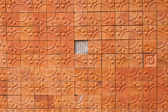 Brown wall terracotta abstrack background Royalty Free Stock Photography