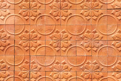 Brown wall terracotta abstract background Stock Image