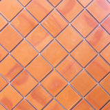 Brown wall tiles as a background or texture Stock Photo