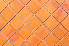 Brown wall tiles as a background or texture Stock Photography