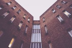 Brown Walled High Rise Building Royalty Free Stock Photo