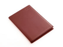 Brown wallet royalty free stock photo