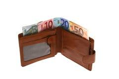 Brown wallet Stock Image