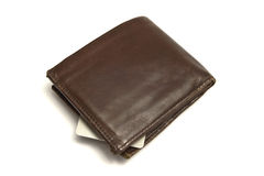 Brown wallet and credit card Royalty Free Stock Photography