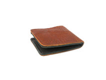 Brown Wallet crocodile skin Royalty Free Stock Photography