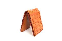 Brown Wallet crocodile skin Royalty Free Stock Photo