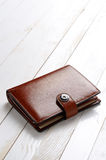 Brown wallet Royalty Free Stock Photos