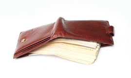 Brown wallet Royalty Free Stock Photography