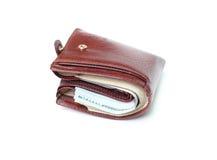 Brown wallet Stock Photos
