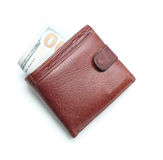 Brown wallet Stock Photography