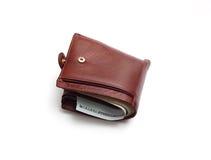 Brown wallet Stock Photo