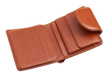 Brown wallet Stock Photo
