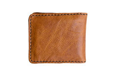 Brown wallet on white background. Royalty Free Stock Image
