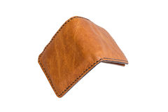 Brown wallet on white background. Stock Photography